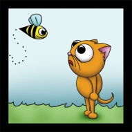 Cat & Bee